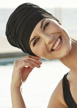 WAVE SWIM CAP black